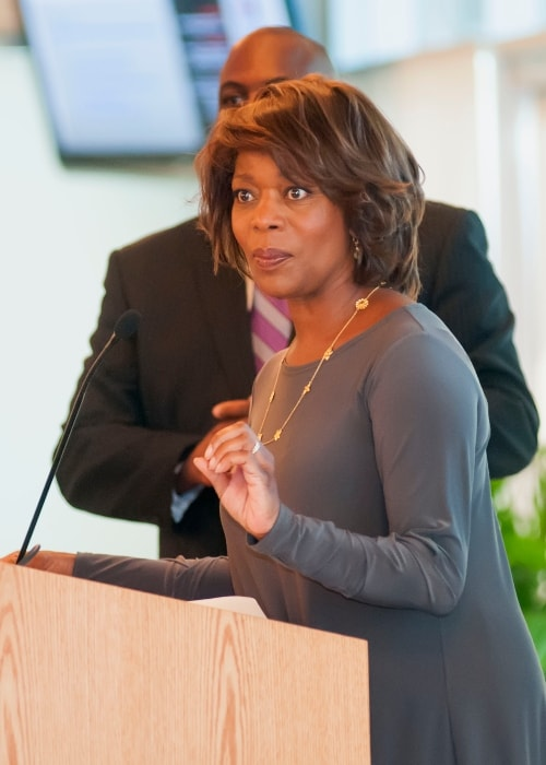 Alfre Woodard speaking at an event in May 2012