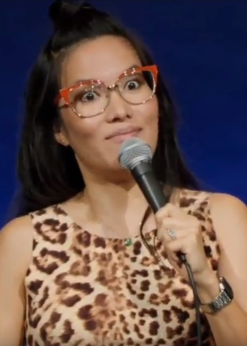 Ali Wong as seen while speaking on her Netflix special, 'Hard Knock Wife', in 2018