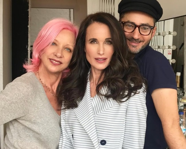 Andie MacDowell (Center) in June 2018