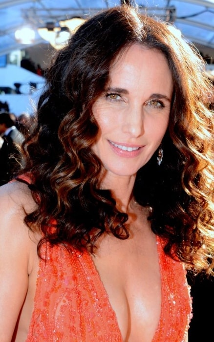 Andie MacDowell as seen at the Cannes film festival in May 2015