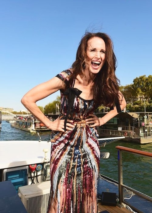 Andie MacDowell as seen in October 2018