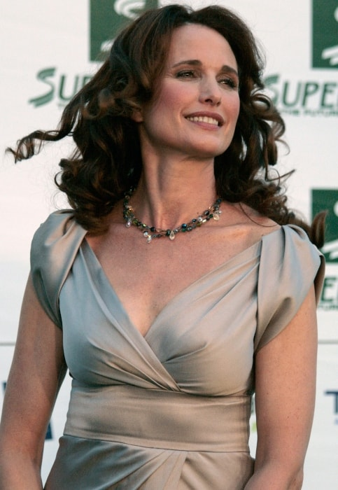 Andie MacDowell at the 'green carpet' for the Save the World Awards in July 2009