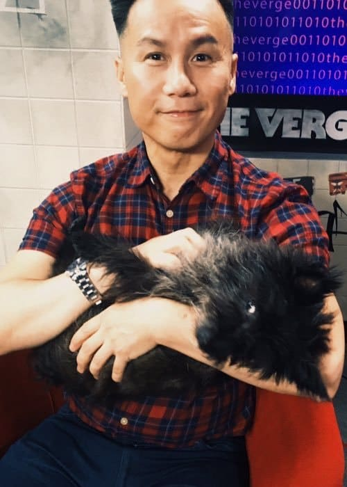 BD Wong with his dog as seen in August 2016