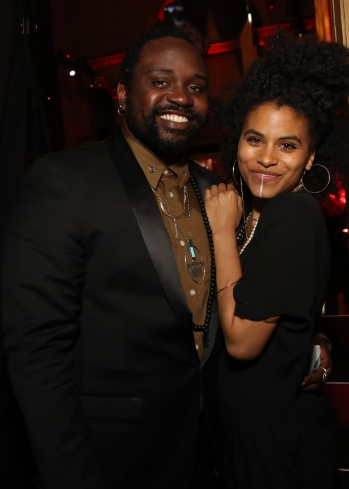 Brian Tyree Henry with Zazie Beetz in May 2017