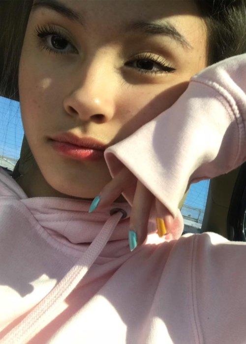 Caitlin Halderman in a selfie as seen in October 2018