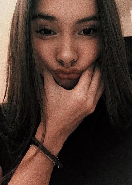 Caitlin Halderman in an Instagram selfie as seen in November 2018
