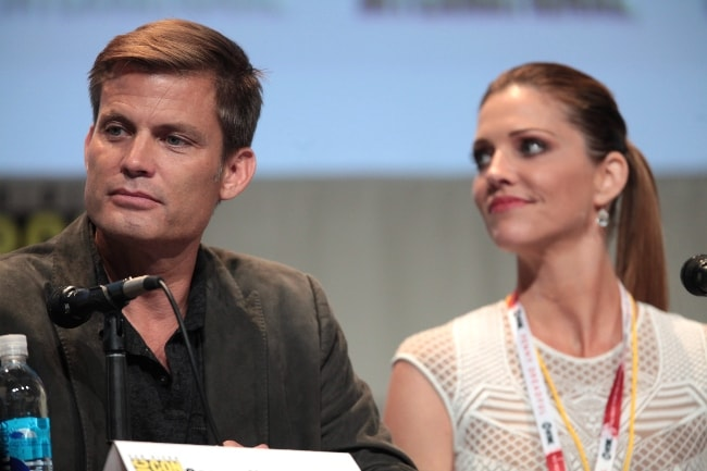 Casper Van Dien and Tricia Helfer at the 2015 San Diego Comic-Con International