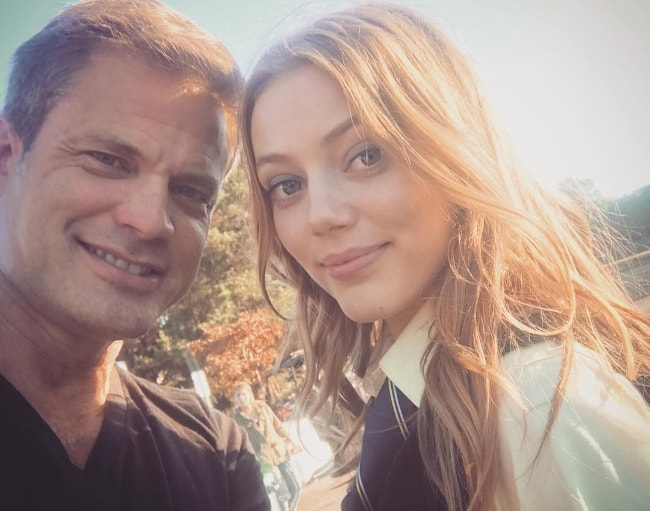 Casper Van Dien in a selfie with his daughter Grace Van Dien in October 2017
