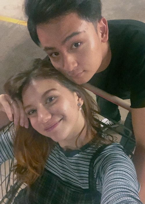 Cassandra Lee in a selfie with Randy Martin in September 2018