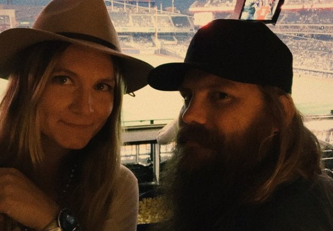 Chris Stapleton and Morgane Stapleton in a selfie in May 2015