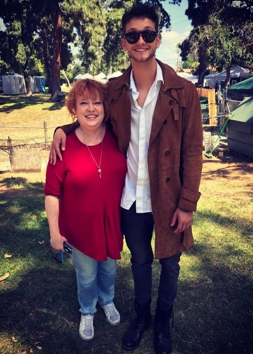 Cody Saintgnue with his mother