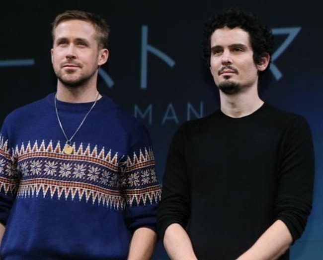 Damien Chazelle (Right) with Ryan Gosling