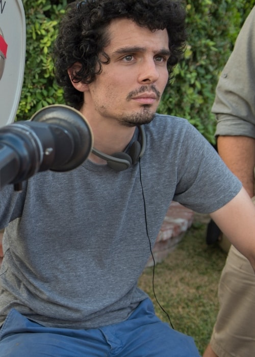 Damien Chazelle while directing 'La La Land'