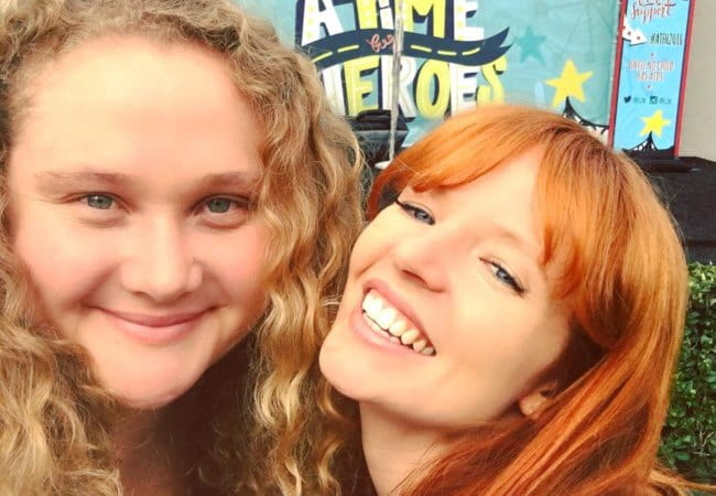 Danielle Macdonald (Left) and Stef Dawson in a selfie in October 2016
