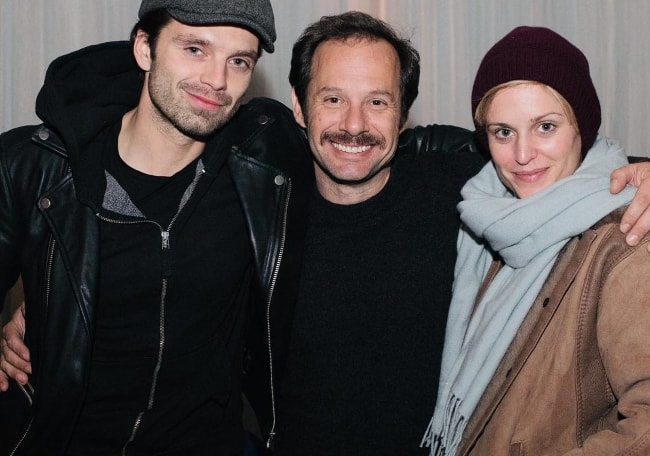 Denise Gough with Yorgos Pirpassopoulos (Center) and Sebastian Stan