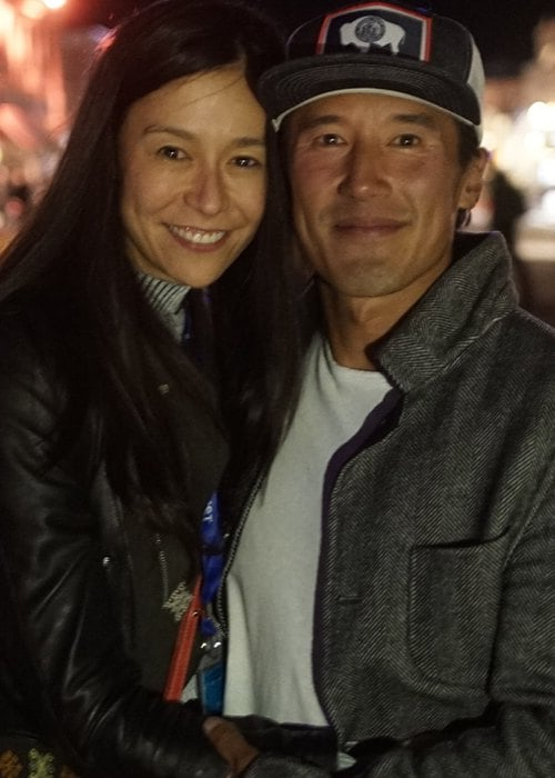 Elizabeth Chai Vasarhelyi and Jimmy Chin as seen in September 2018