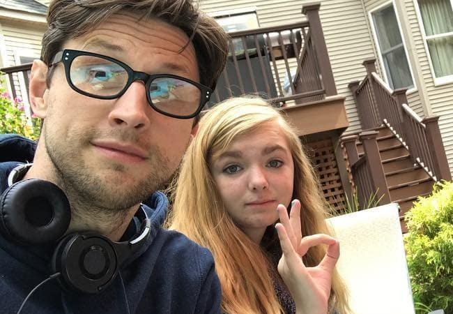 Elsie Fisher and Christopher Storer in a selfie in August 2017