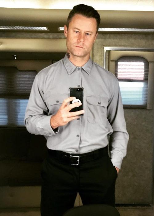 Eric Nenninger in a mirror selfie in July 2018