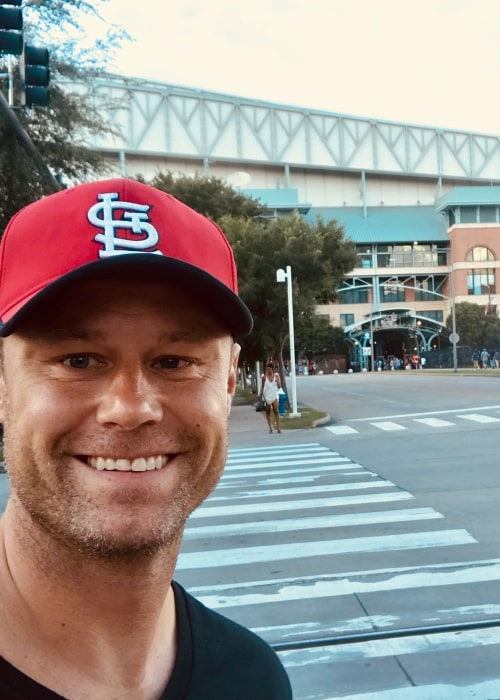 Eric Nenninger in a selfie in Houston, Texas in July 2018