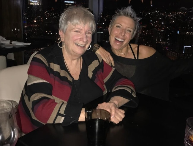 Erin Oprea celebrating her mother's 64th birthday in December 2018