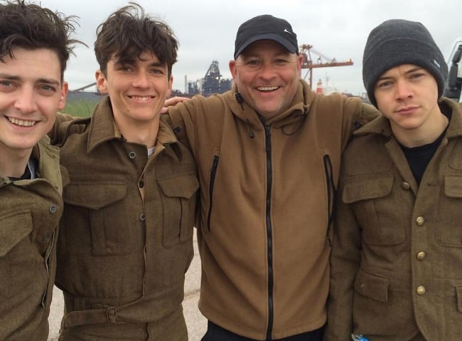 Fionn Whitehead (Second from Left) with his Dunkirk teammates