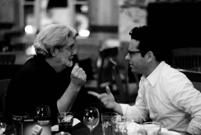 George Lucas (Left) and JJ Abrams in August 2007