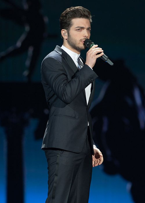Gianluca Ginoble performing at Eurovision Song Contest in May 2015