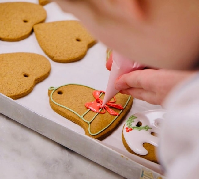 Ginger Bread Biscuits being prepared for the Royal Christmas celebrations in December 2018