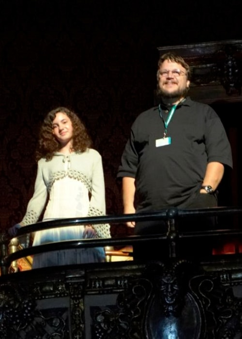 Guillermo del Toro with Ivana Baquero receiving a standing ovation after the North American premiere of 'Pan's Labyrinth' in September 2006