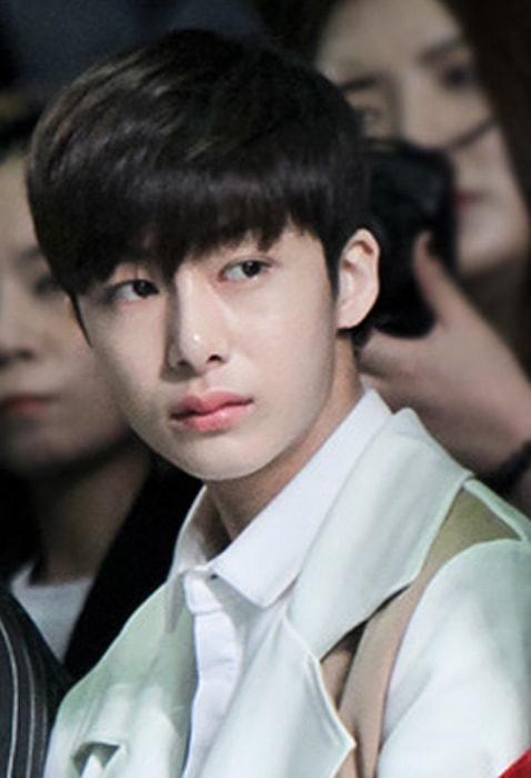 Hyungwon as seen at Seoul Fashion Week in March 2016