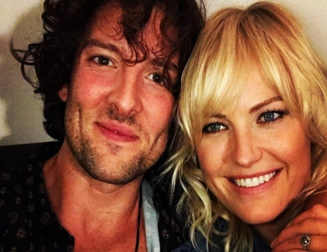 Jack Donnelly and Malin Åkerman as seen in October 2017