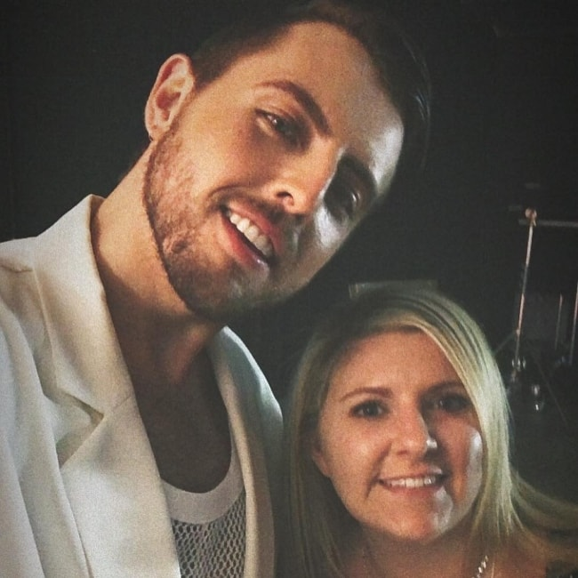 James Abrahart in a selfie with Angie Pagano in November 2018