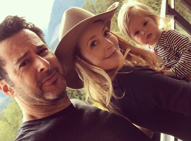 Jennifer Finnigan with her family in Revelstoke, British Columbia in September 2018