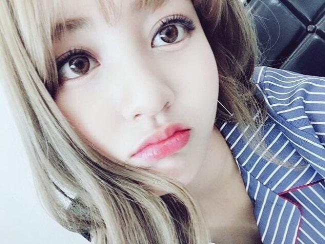 Jihyo as seen in a selfie