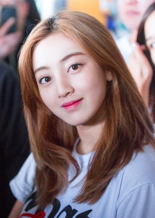 Jihyo as seen while smiling
