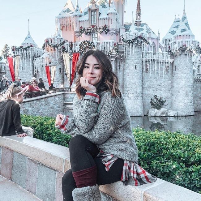Jillian Rose Reed at Disneyland in December 2018