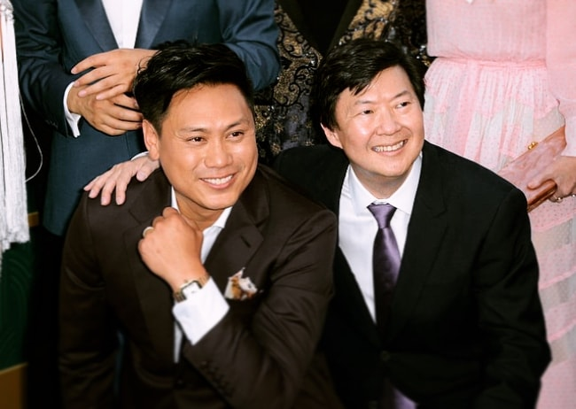 Jon M. Chu (Left) with Ken Jeong in August 2018