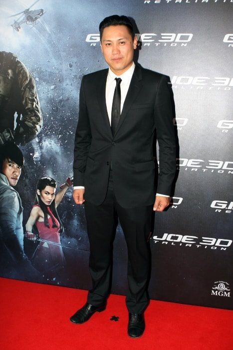 Jon M. Chu at the red carpet movie premiere of 'G.I. Joe Retaliation' in March 2013