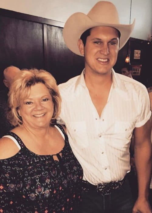 Jon Pardi with his mother as seen in May 2018