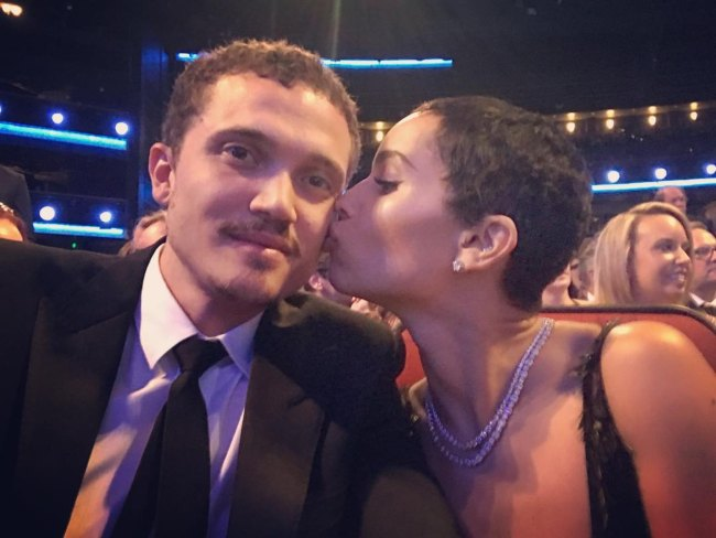 Karl Glusman and Zoë Kravitz in a selfie in September 2017