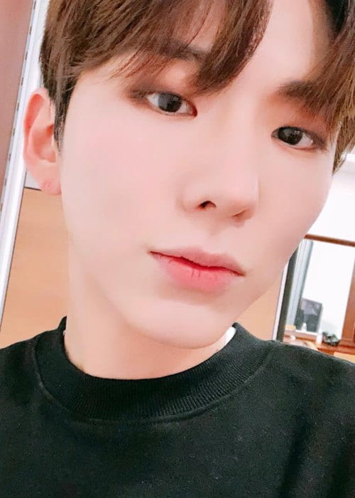 Kihyun in an Instagram selfie as seen in November 2018