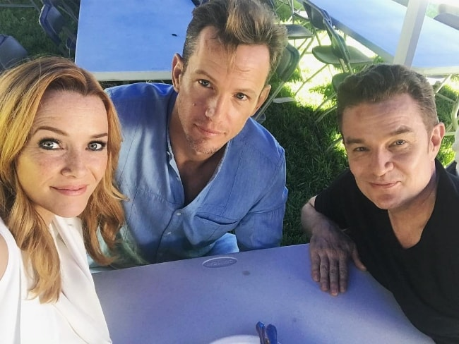 Kip Pardue (Center) in a selfie with Annie Wersching and James Marsters