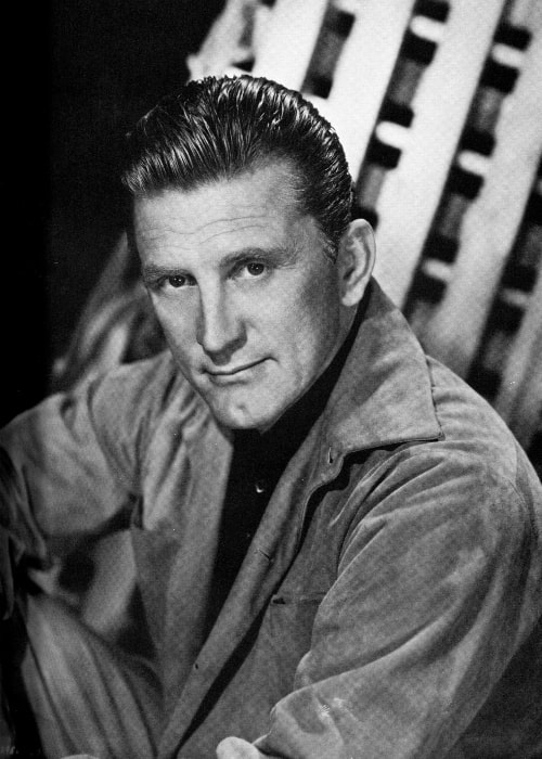 Kirk Douglas in a black-and-white still