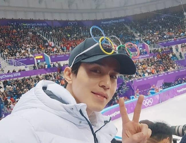 Lee Dong-wook at the 2018 Winter Olympics in February 2018