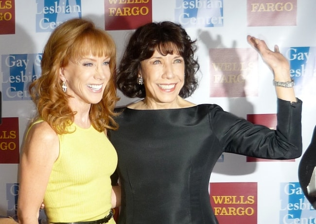 Lily Tomlin with Kathy Griffin (Left) in November 2010