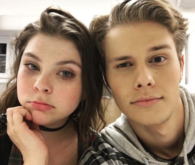 Logan Shroyer and Hannah Zeile in a selfie in August 2017