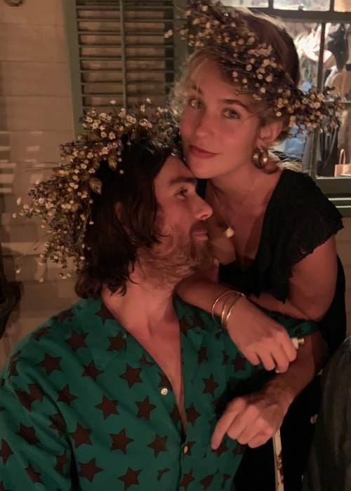 Lola Kirke with musician WYNDHAM in October 2018