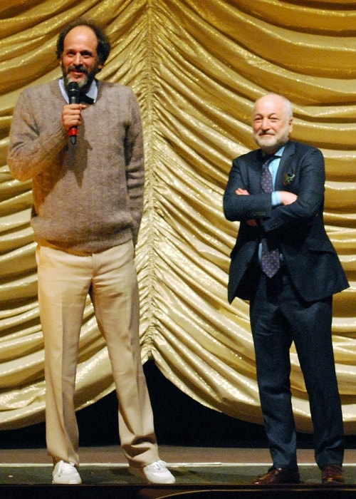 Luca Guadagnino (Left) and André Aciman at the Berlin Film Festival 2017
