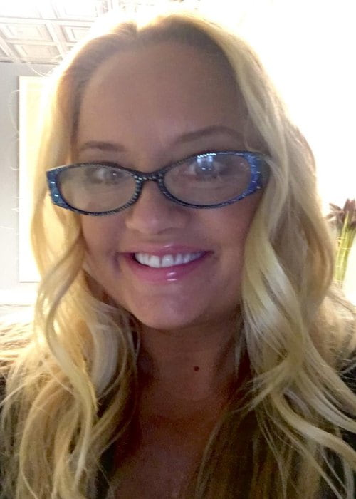 Lucy Davis in a selfie in November 2018