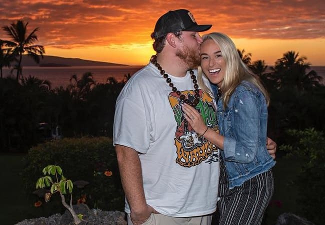 Luke Combs and Nicole Hocking as seen in November 2018